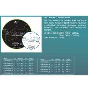 Braided Line ATC Salt Alliance 8X 300m