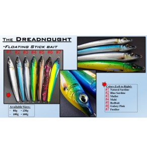 Lure Amberjack DreadNought 100g F