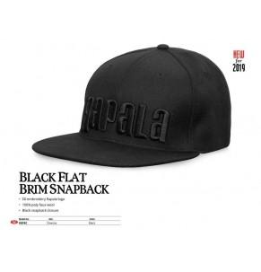Apparel Rapala Black Flat Brim Snapback Cap