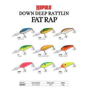 Lure Rapala Deep Down Rattlin Fat Rap 10g