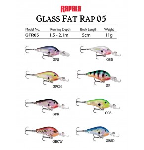 Lure Rapala Glass Fat Rap 5cm 11g