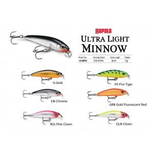 Lure Rapala Ultra Light Minnow  4cm